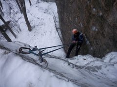 Rock Climbing Photo: Parallel Gully: A good TR route. Dec 31st 2009.