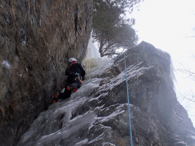 Rock Climbing Photo: Parallel Gully on 12/31/09
