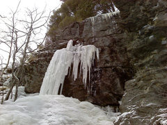 Rock Climbing Photo: nice ice piller to possible rock finish...