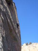 Rock Climbing Photo: Fighting through the thin upper face.