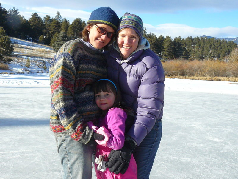 New Years day ice skating at the cabin pond