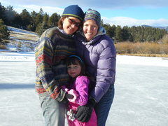 Rock Climbing Photo: New Years day ice skating at the cabin pond