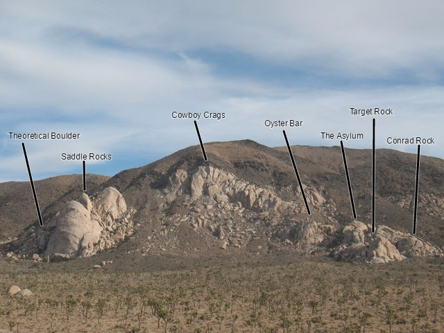Saddle Rocks and surrounding areas from the Love Nest, Joshua Tree NP
