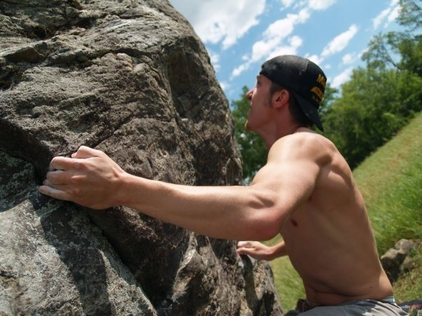 Bouldering at Louisville Swamp