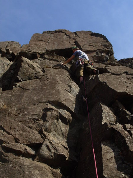 Joel Saice looking strong on his first trad lead!