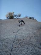 Rock Climbing Photo: leading Quaker Oats