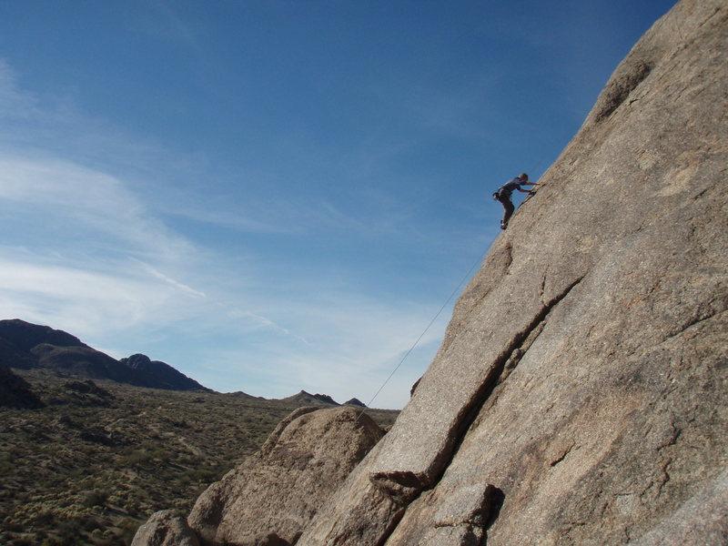 Rock Climbing Photo: Susan on 'Last Light'