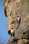Rock Climbing Photo: Pebble pullin' and Microwavin' on P2