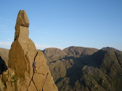 Rock Climbing Photo: Napes Needle .Climber in the Wasdale Crack.photo t...