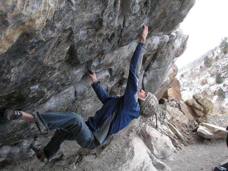 Rock Climbing Photo: Brian getting the crimp.