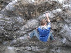Rock Climbing Photo: Brian warming up on Cytogrinder.