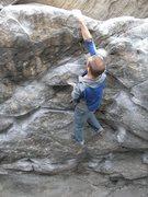 Rock Climbing Photo: The final move.