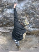 Rock Climbing Photo: Here goes Jay....