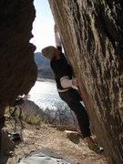 Rock Climbing Photo: Working the bottom sec. M.Z.