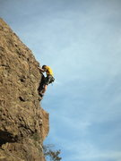 "Rock Climbing Photo: Climber on the arete of ""Mirror of Erised&quo..."