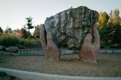 Rock Climbing Photo: Westland Park Boulder.  About 10 feet tall.  Prepa...