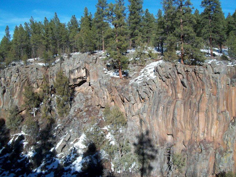 Rock Climbing Photo: The Davidson and Sine Walls.