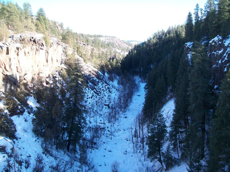 Down Canyon in the winter.