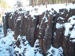 Rock Climbing Photo: Pillow during winter.