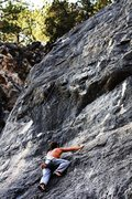 "Rock Climbing Photo: Man climbing ""Black Sheets of Rain"""