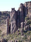 Rock Climbing Photo: Unknown climbers on Damsels in Distress. Jan. 3, 2...