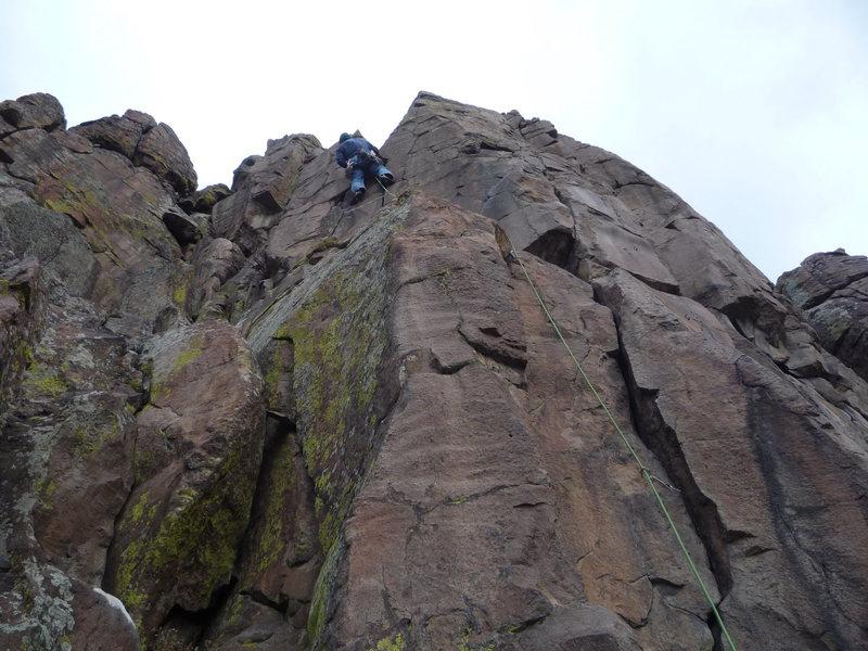 A fine climb on a Winter day.