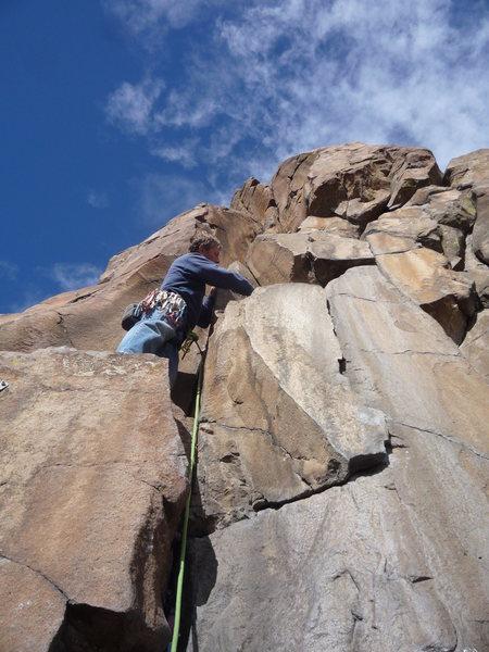 Rock Climbing Photo: Near the bottom after the difficult start.