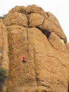 Rock Climbing Photo: Climber enjoying some English Breakfast Tea.