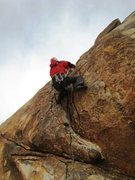 Rock Climbing Photo: P girl leadin' Flies...  Standard rack, emphasis o...