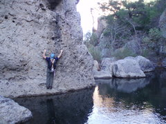 Rock Climbing Photo: Fun over water traverses to get to and from the cr...