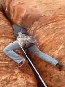 Rock Climbing Photo: Head jam.