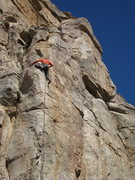 Rock Climbing Photo: Jesse S. topping out on Magnetopause
