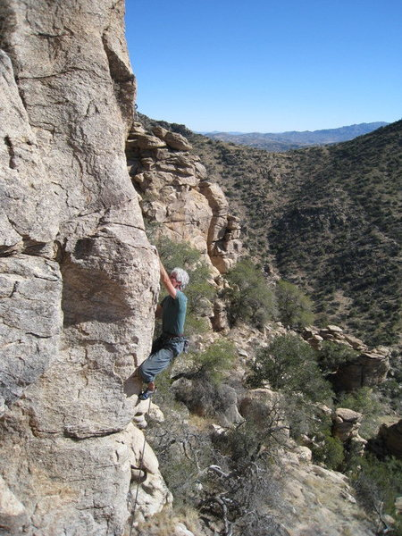 Rock Climbing Photo: Jimbo working the erete problem, Magnetopause