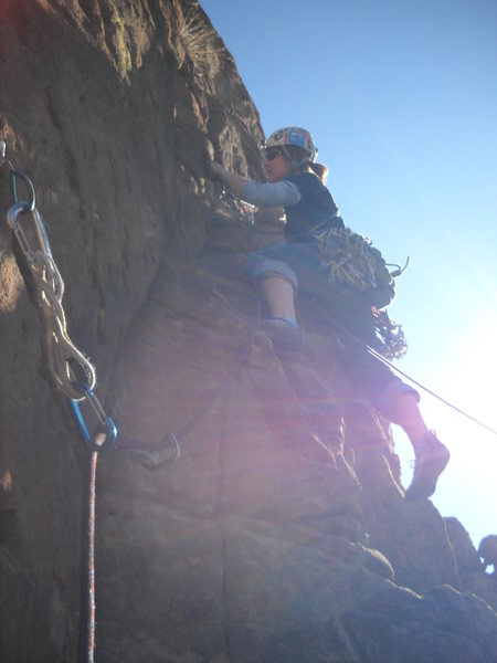 Rock Climbing Photo: Marcy on the FA