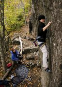 Rock Climbing Photo: Angela and Anders playing on Celestial Motion - Su...