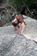 Rock Climbing Photo: Myself cleaning Bartlebee's Crack - Precipice - Ma...