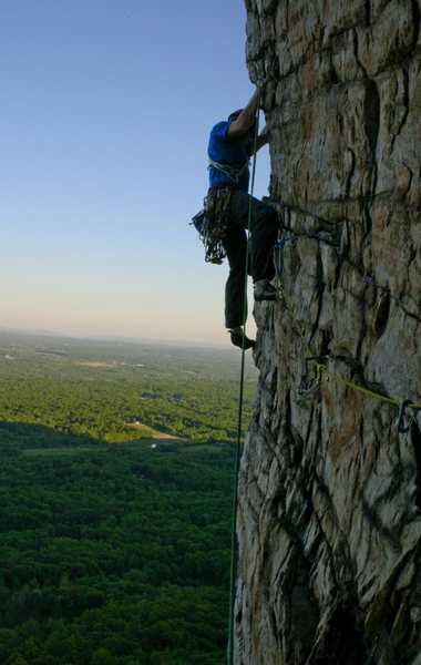 Rock Climbing Photo: Myself on the last pitch of Bonnie's Roof - Gunks ...