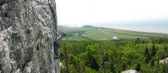 Rock Climbing Photo: John on Teche Noire - Kamouraska - Quebec.