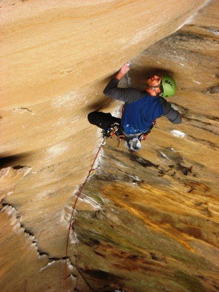 Rock Climbing Photo: Erick on Rock Wars - RRG - Kentucky.