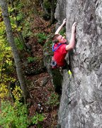 Rock Climbing Photo: Peter on the FFA of Governor Givener' - Sunnyside ...