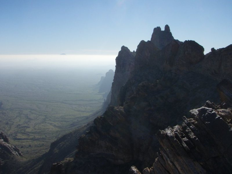Eagletail Ridgeline, as seen from above first approach saddle.