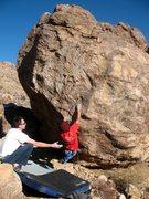 Rock Climbing Photo: Jeffy at the start of  Tinkerbell's Anus (V2), Jos...