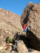 Rock Climbing Photo: Pulling over the bulge on The Mullet (V1), Joshua ...