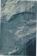 Rock Climbing Photo: Paul Ross ,Mike Hienz on the First Ascent. Aug 197...