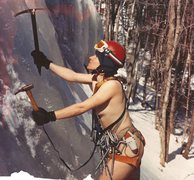 Rock Climbing Photo: It was warmer in the 1970's.North end ice.