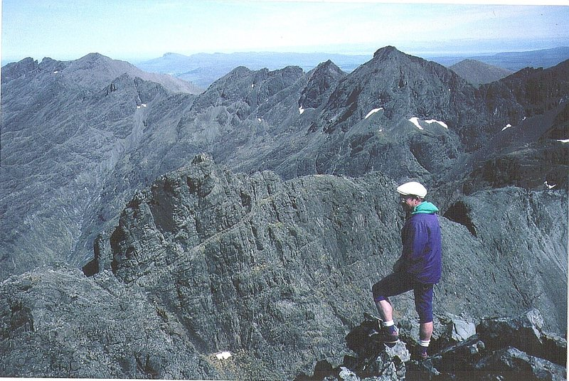 P.Ross on the Skye ridge.