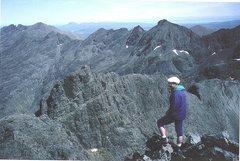Rock Climbing Photo: P.Ross on the Skye ridge.