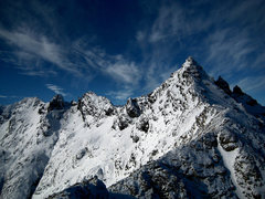 Rock Climbing Photo: The ridge in winter. The traverse in winter is a m...