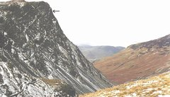 Rock Climbing Photo: Honister Crag . Looking down into the Buttermere V...