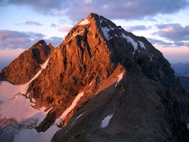 The Middle Teton at dawn from above the Black Dike on the Grand, 2005.